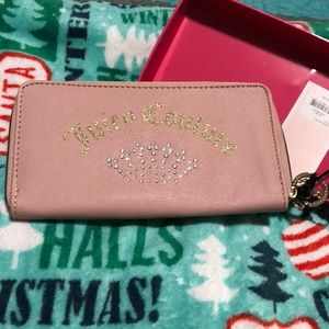 Juicy Couture Shining Crown Wallet Blush Pink NWT